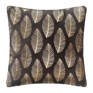 Coussin velours or Tropic 40x40 cm gris