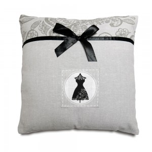 Coussin 40x40cm Black Dress
