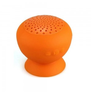 Mini-enceinte Bluetooth® B-COLOR avec ventouse de fixation orange