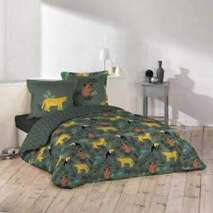 Housse de couette 200x200 + 1 taie Animaux and co coton