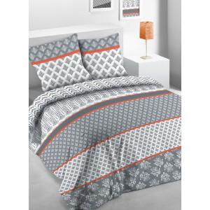 Housse de couette 220x240 Lisao + 2 taies