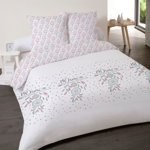 Housse de couette 220x240 Erna Rose + 2 taies