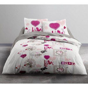 Housse de couette 220x240 + 2 taies ONLY FLOWER BING