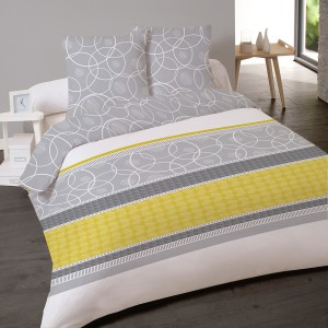Housse de couette 220x240 Ibe Jaune + 2 taies