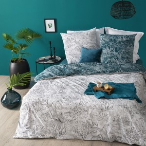 Housse de couette 220x240 Jungle + 2 taies 100% coton 57 fils