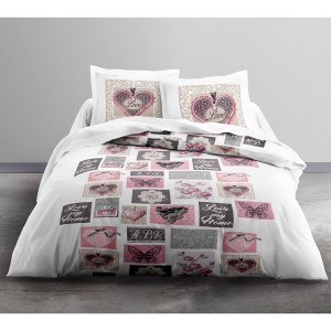 Housse de couette 220x240 + 2 taies ONLY LOVE MY HOME