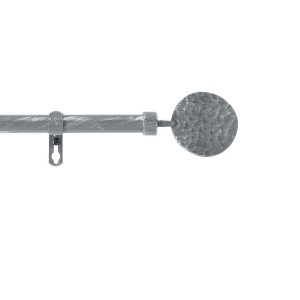 Kit tringle extensible 120 à 210 cm patine Bullette gris/argent