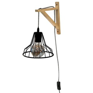 Lampe murale suspension diamant filaire
