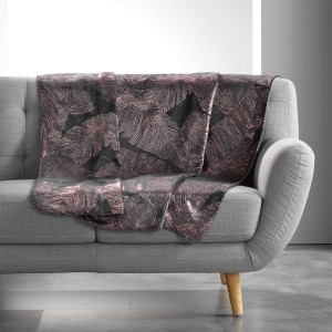 Plaid 125x150 cm Coral Metal Veggy anthracite or rose