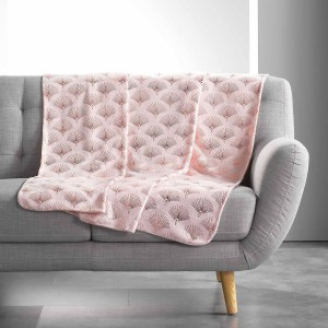 Plaid 125x150 cm Coral Metal Goldy rose or rose