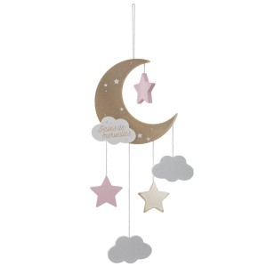 Suspension Lune rose