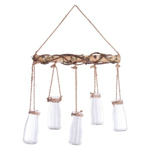 Suspension 5 soliflores en bois Nomade