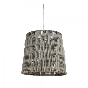 Suspension tambour TORNIO tissage vertical gris