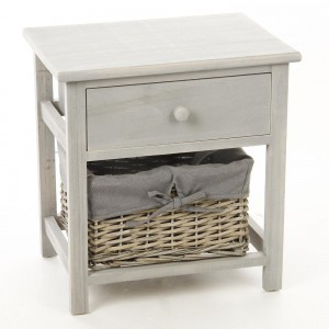 Table de chevet Aby gris