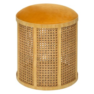 Tabouret cannage Arty moutarde