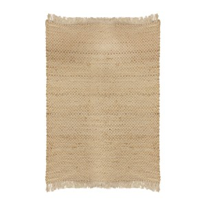 Tapis jute rectangle avec franges 120x170 cm