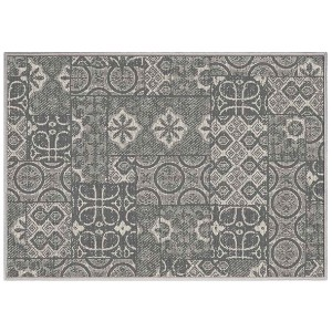Tapis déco rectangle 120x170 tissé réversible Mindila