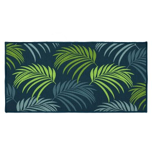 Tapis déco rectangle 57x115 cm Blue Vegetal