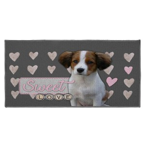 Tapis déco rectangle 57x115 cm Love Doggy