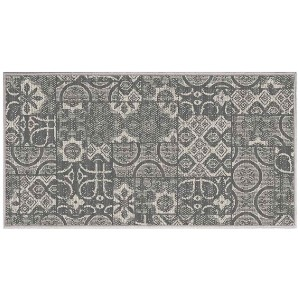 Tapis déco rectangle 80x150 tissé réversible Mindila