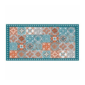 Tapis vinyle 50x100 cm Alicante orange