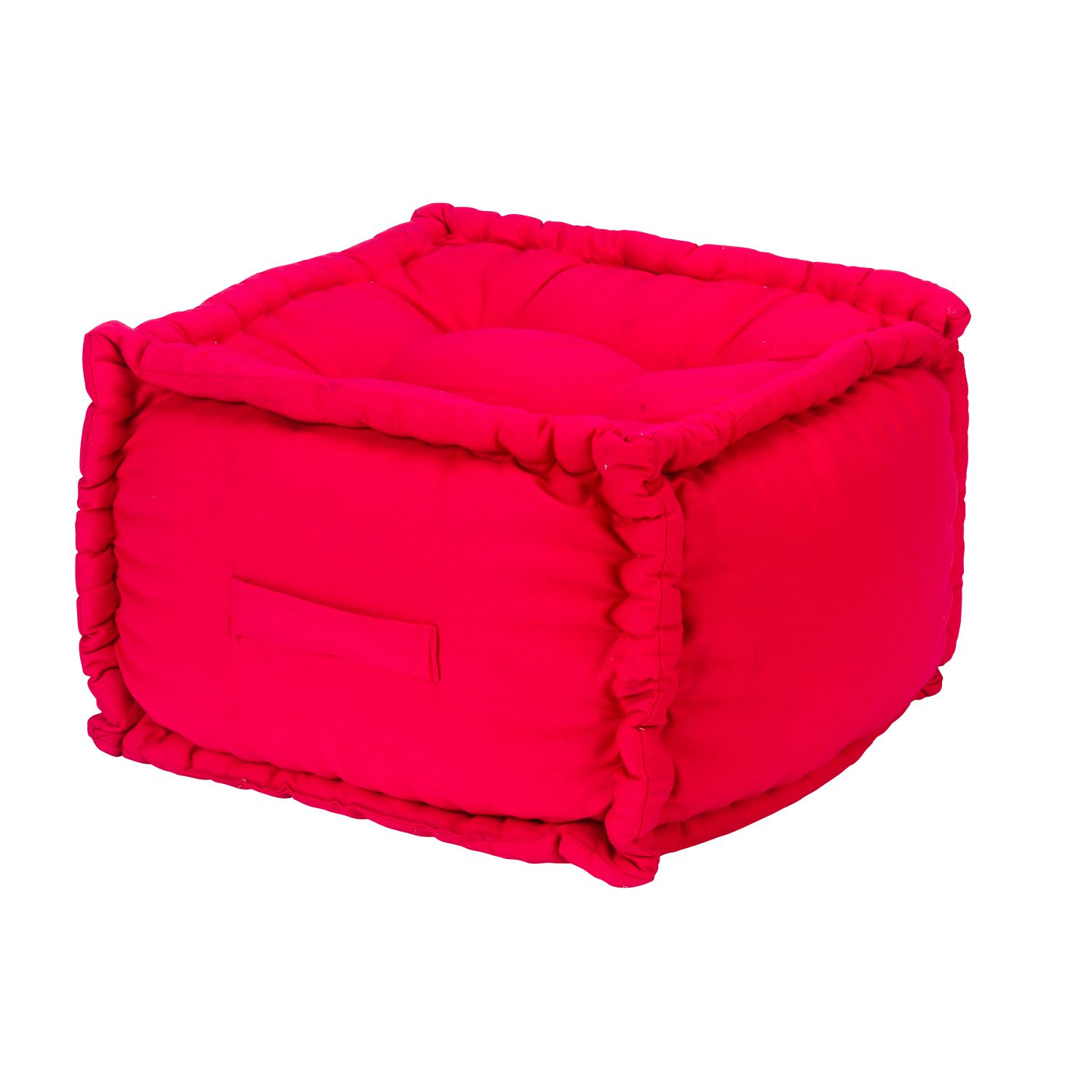 pouf g ant carr 40x40x30cm fuchsia rose autres ebay. Black Bedroom Furniture Sets. Home Design Ideas