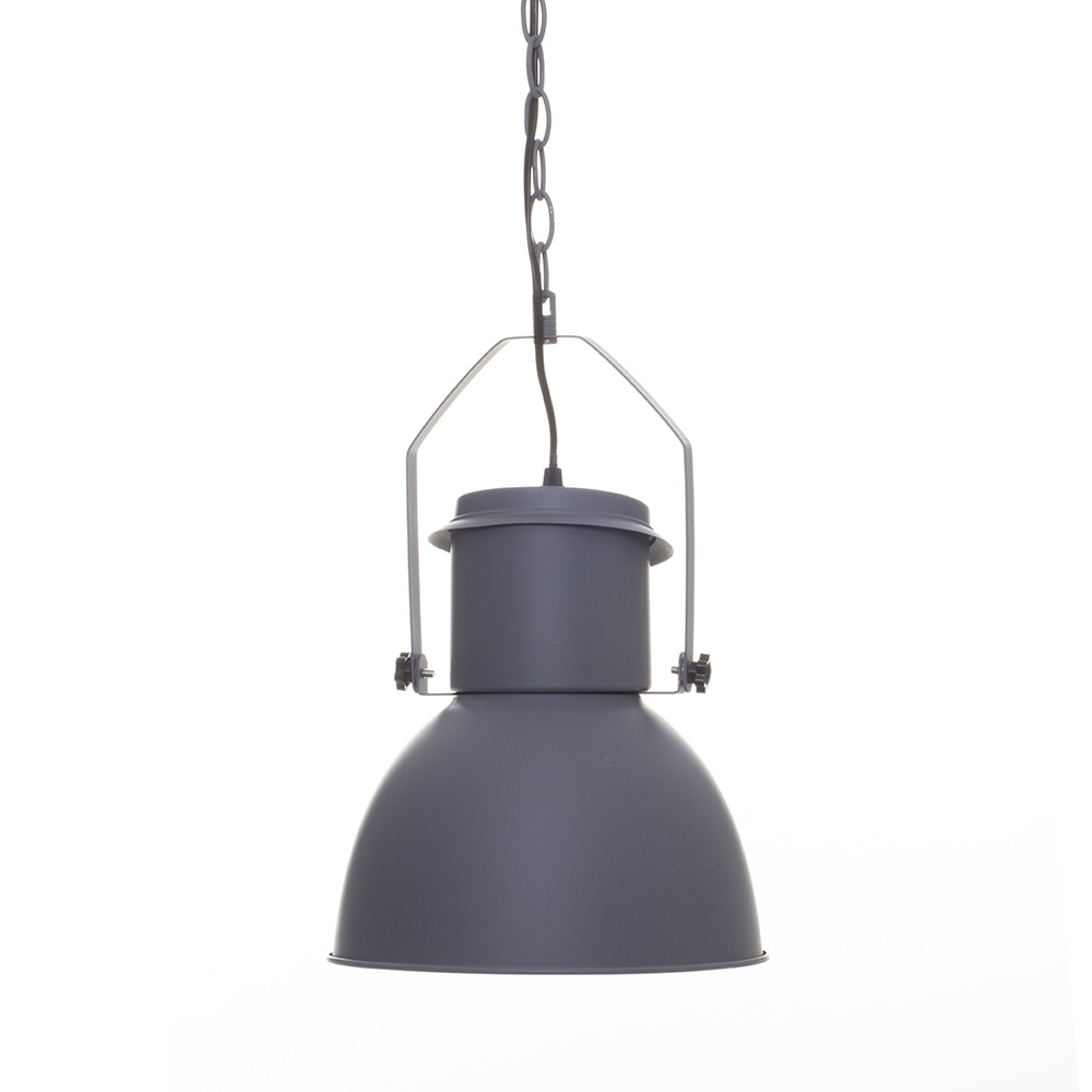 Suspension industriel gris en m tal gris autres ebay - Suspension metal industriel ...