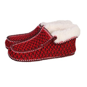 Chaussons Sherpa homme rouge