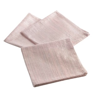 Lot 3 serviettes de table 40x40cm Elegancia rose