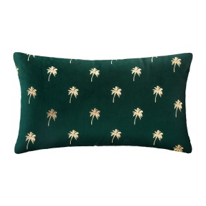 Coussin velours or Tropic 30x50 cm