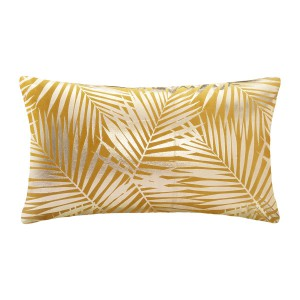 Coussin velours or Tropic ocre 30x50 cm