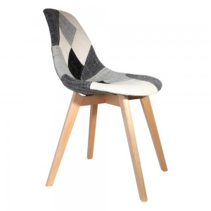 Chaise scandinave Patchwork gris